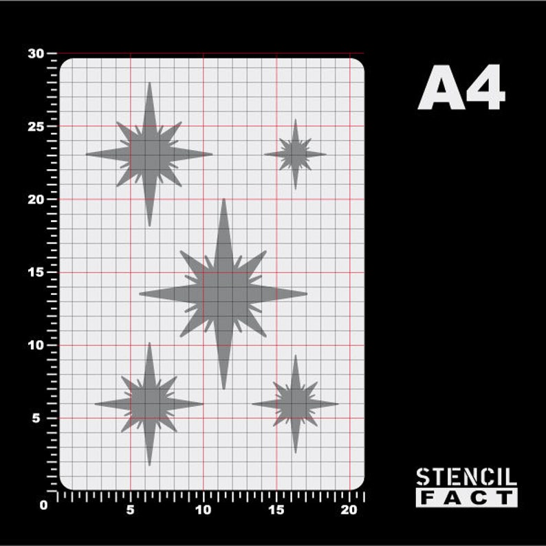 Template stars Christmas Star star Stars-BA62
