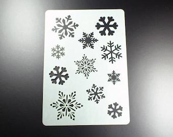 Stencil Snowflakes Winter 11 flakes Snowflake-BA07