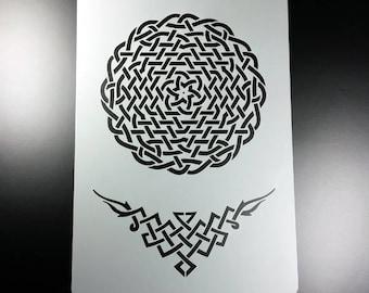 Stencil Celtic knot Celtic knots-BA68