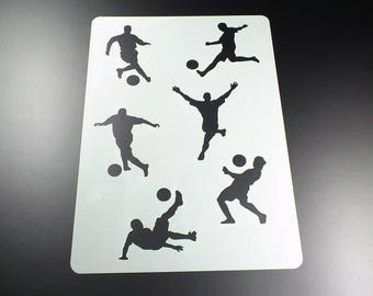 Template soccer player 6 soccer players-BA16