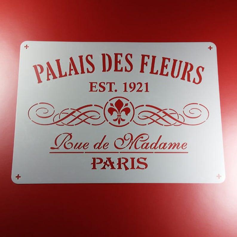 Stencil Palais des fleurs Paris Ornament-BS61