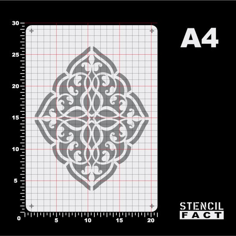 Stencil Ornament Arabesque Arabesques-BE80
