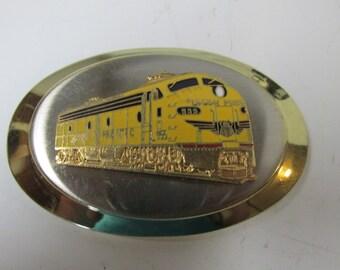 Vintage Train Belt Buckle