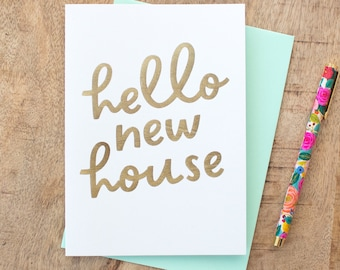 Hello New House Card, New Home Card, New Homeowners, House Warming Card, Happy New Home Cards, New Neighbour, New Homeowner,