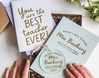 Best Teacher Gift Box, Thank You Teacher Gift, Personalised Teacher Gift Set, World's Best Teacher, Stationery Gift, Teacher Appreciation