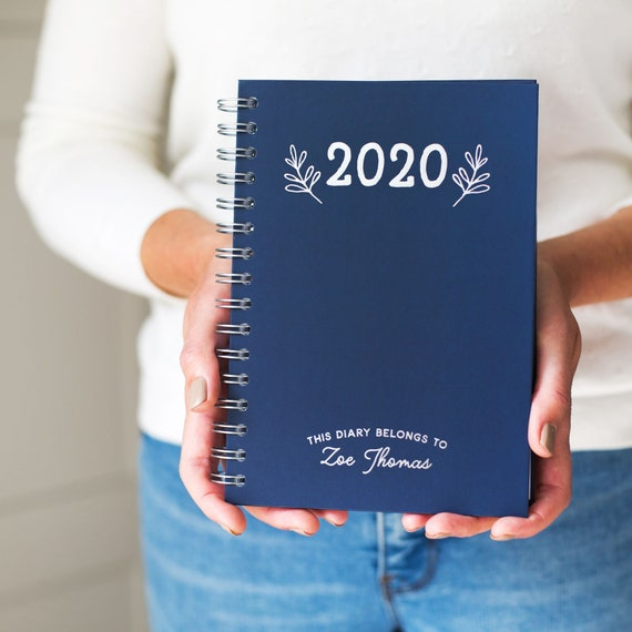 a diary personalised diary weekly planner week to