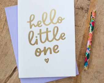 Hello Little One Baby Card, Newborn Baby Card, New Parents Card, Pregnancy Card, New Baby Card, Expecting Mum Gift, Birth Announcement Card