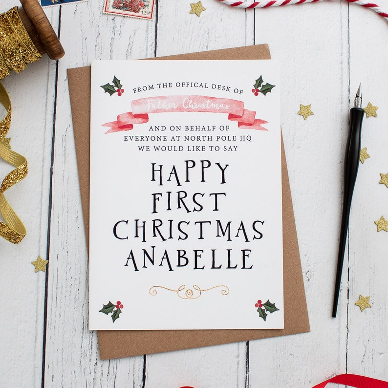 Christmas Greetings Letter.Baby First Christmas Card Letter From Santa Father Christmas Card Personalised Card From Santa Baby Christmas Keepsake Xmas Baby Card