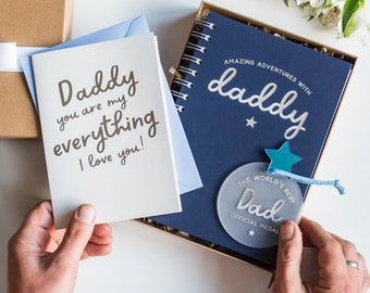 Father's Day Gift Box, Personalised Dad Gift, Daddy Notebook, Stationery Gift Set, New Dad Gift, Father's Day Gift For Dad, World's Best Dad