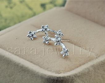 Silver Plum Blossom  Earrings,Pairs Stud Earrings,925 Silver Women Jewelry,Lovely Earrings,bride's Wedding Gifts