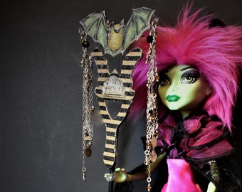 ON HOLD for LK Masquerade Mini Mask handheld or staff One Sixth scale Bat in the Belfry Celebration Mardi Gras Halloween