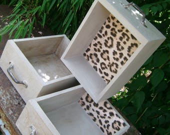 Shabby Chic industrial upcycling drawer set in wild shabby design-Wild Side