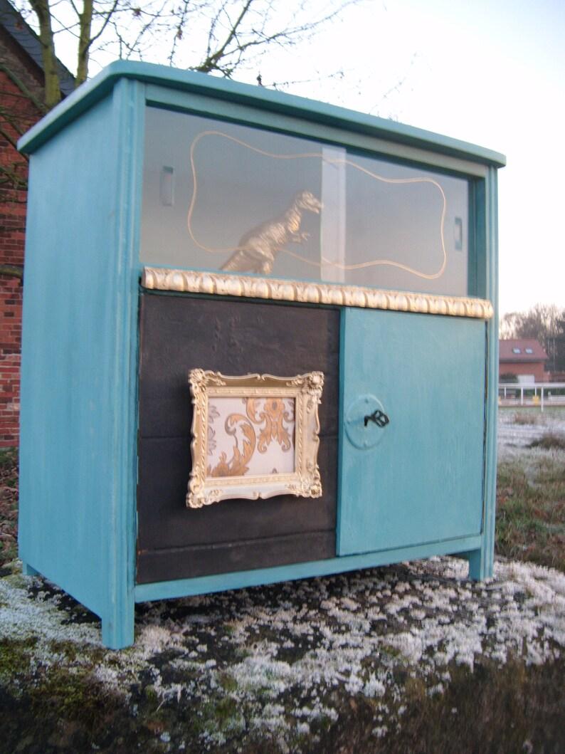 Shabby Chic Vitrine Cabinet Upcycling Design Chalk Paint Etsy