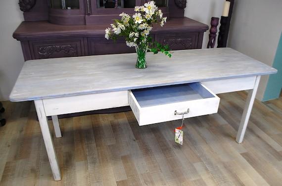 Mesa de comedor Shabby Chic mesa ajuste mesa vintage | Etsy