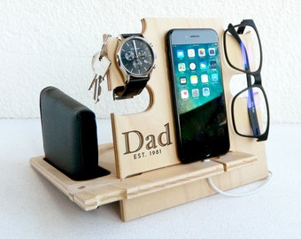 Dad GiftsDocking StationGift MenGift For DadChristmas Gift DadIphone DockDad PresentChristmas DadPapa GiftsBirthday DadLove My