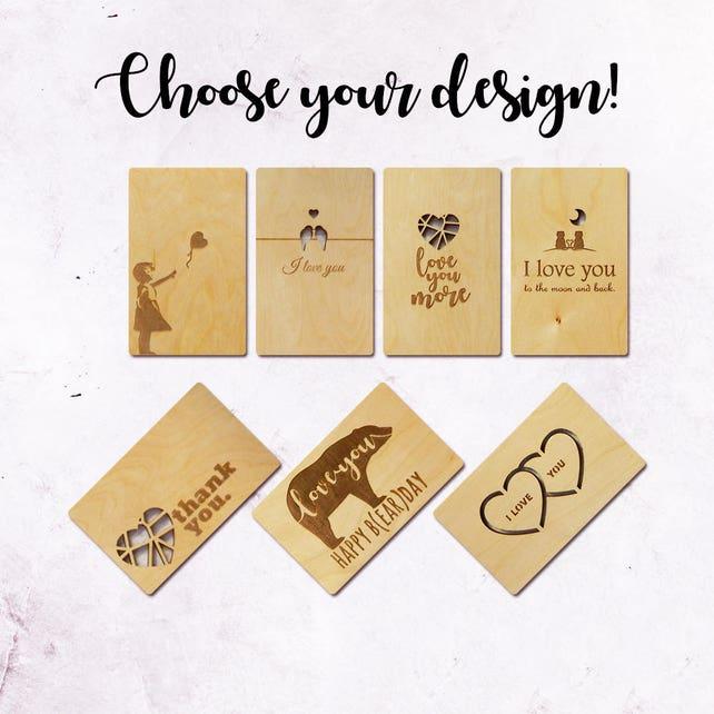 Thank You Wooden Greeting Cardcard For Husbandboyfriend Cardhappy Birthday Cardgreeting Cardanniversary Cardslove Cardwooden Card