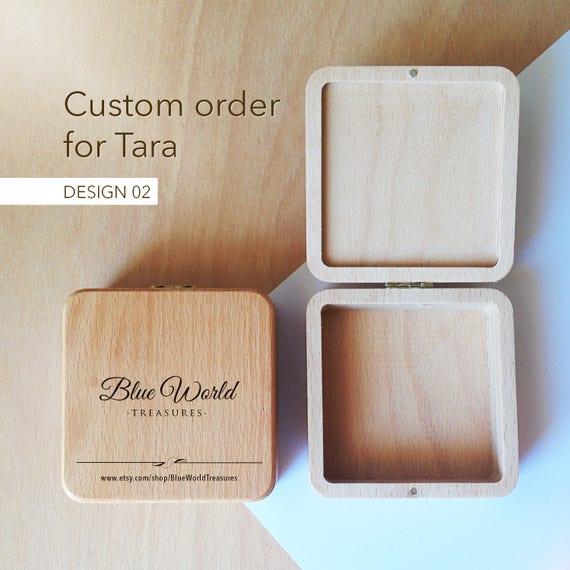 bo te en bois sur mesure pour les bijoux avec logo grav etsy. Black Bedroom Furniture Sets. Home Design Ideas