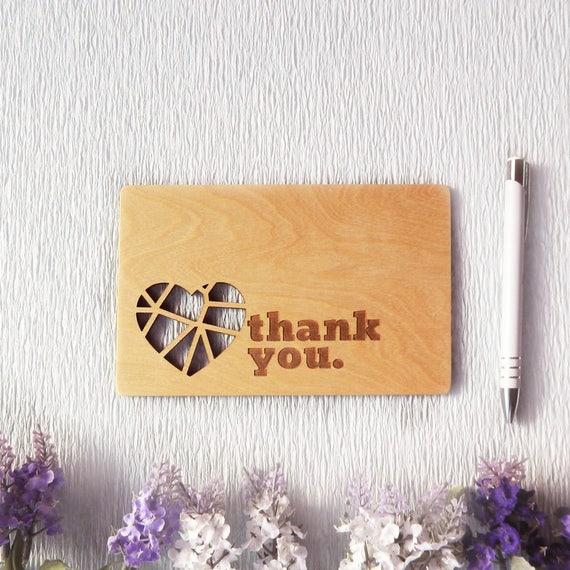 Thank You Wooden Greeting Cardcard For Husbandboyfriend