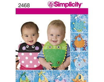 Simplicity Pattern 2468 Two-Pattern Piece Stuffed Animals, Paper Pattern for Bears, Dogs and Rabbits
