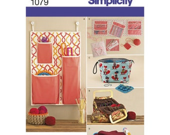 Craft Room Organizer Simplicity Pattern 1079 Knitting and Crochet Storage Accessories