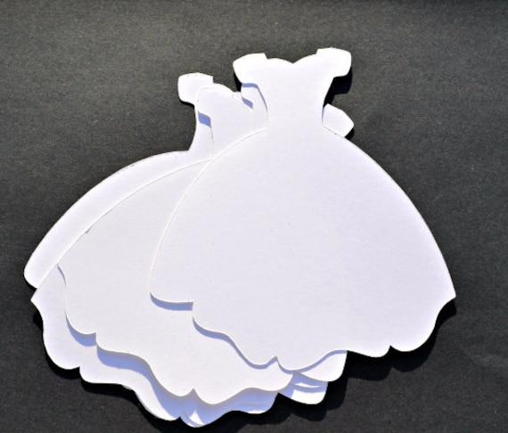 Wedding Dress Die Cut Set Of 4 Sweet 16 Dress Fairytale