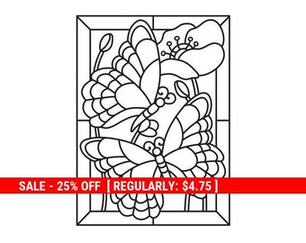 Darice® Embossing Folder - Butterfly Mosaic - 4.25 x 5.75 inches