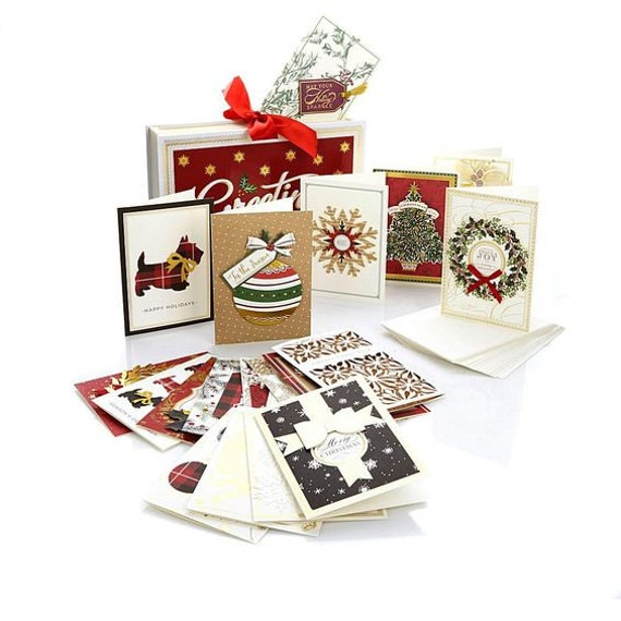 Anna Griffin Christmas Cards.Anna Griffin Holiday Accordion Card File With Cards Ready To Send Anna Griffin Christmas Cards Set Of 20 With Envelopes And Sentiments