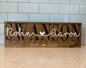Wedding Day Frame Jigsaw Wall Art Gift Idea