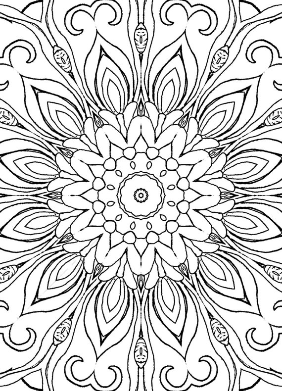 Items similar to 25 Coloring Pages including Mandalas ...