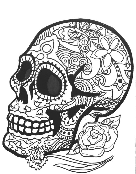 Blank Sugar Skull Template Unique Classy Ideas Skull Coloring ... | 731x570