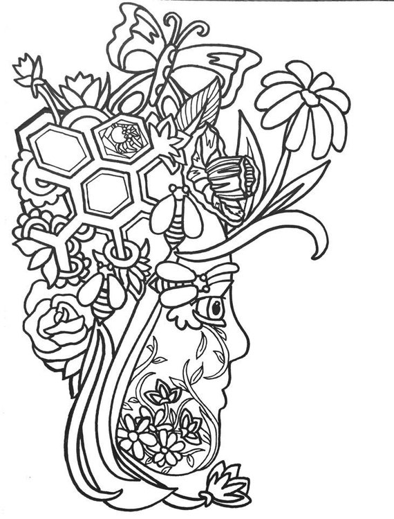 15 More Fun Fancy Funky Faces Coloring Pages Vol2 Etsy