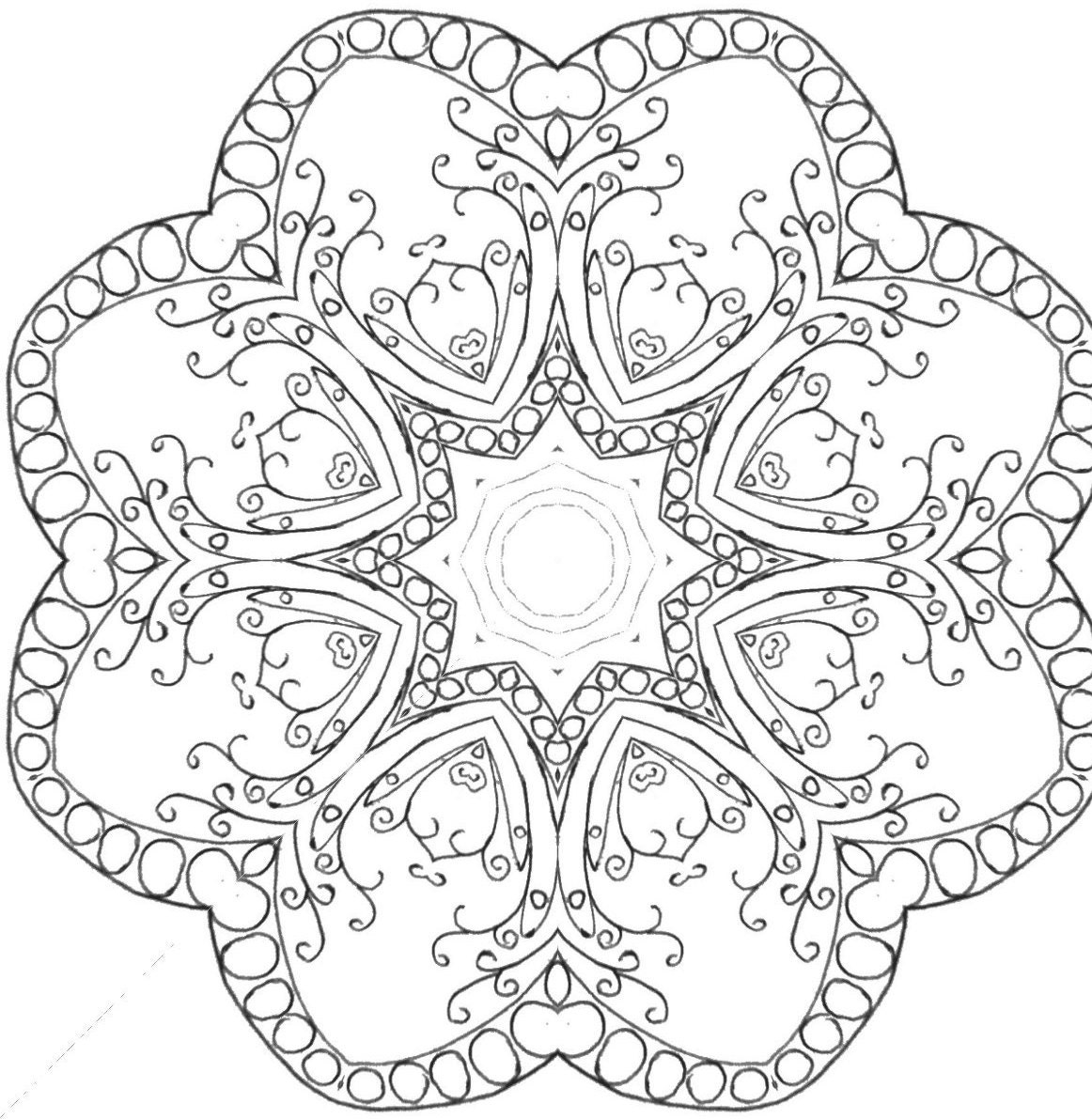 25 Coloring Pages including Mandalas Geometric Designs Rug   Etsy