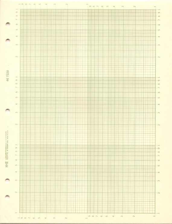 En Papier Millimétré Logarithmique K E 46 7320 2 X 3 Cycles