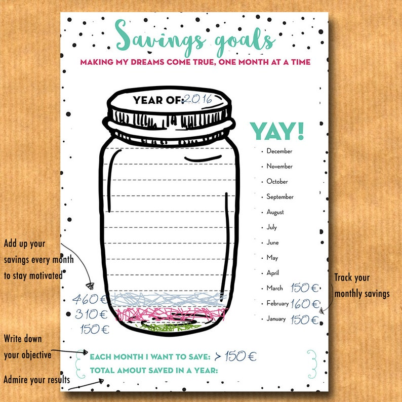 Eloquent image for savings jar printable