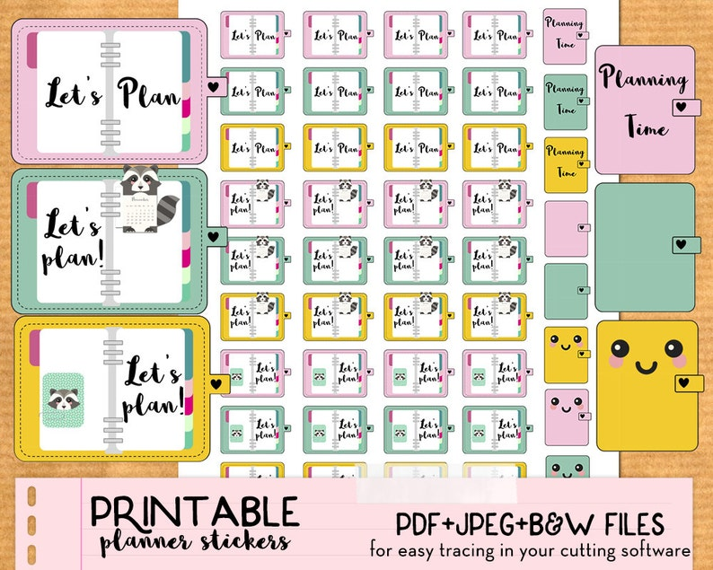 photo regarding Cute Printable Stickers identified as Building year, Method, planner stickers- Adorable Printable planner stickers, Do-it-yourself, print and slash, PDF prompt down load