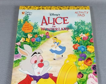 Alice in Wonderland ~ Activity Pad ~ NEW ~ Follow the White Rabbit ~ Disney ~ Golden Books ~  My Nostalgic Life