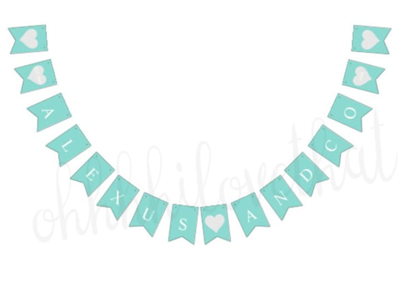 Couture Elegant Teal Blue Party Birthday Bridal Baby image 0
