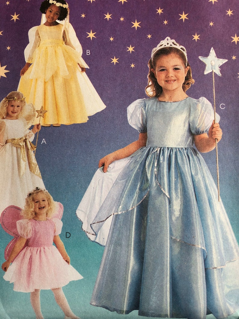 Princess Angel Sewing Pattern Little Girls Size 3 4 McCalls 9454 Costumes Dress Up Halloween Uncut New Patten