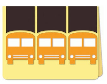 School Bus Card , Free Confetti , blank , bus driver , teacher, friends, crossing guard , kids, adults