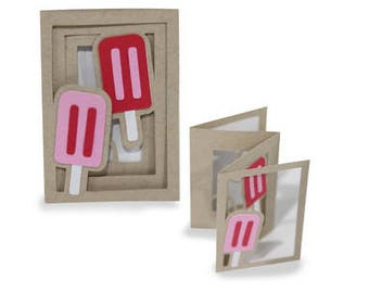 3D Fold out Popsicle Accordion Card , Tasty , Friends , Family , Kids , Free Shipping , Blank inside , Summer , Treat , Sweet