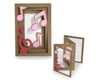 Musical Notes accordion Card , Blank inside , Teacher , Instructor , Family , Friends , Music Lover