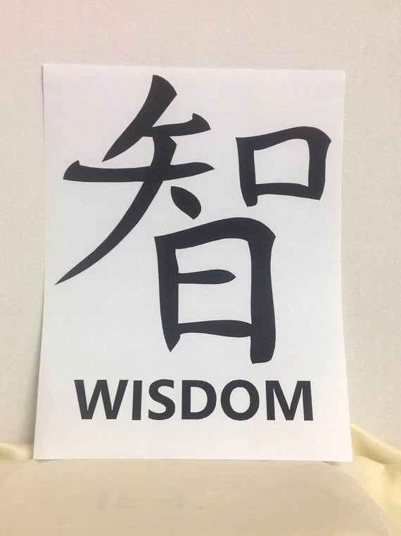 Japanese Symbol Print Strength Courage Wisdom Love Etsy
