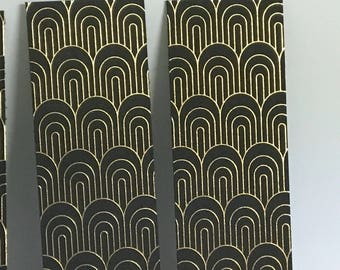 Black and Gold Bookmark , Page Keeper , Read , Books , Kids , Teens , Adults , Gold Foil