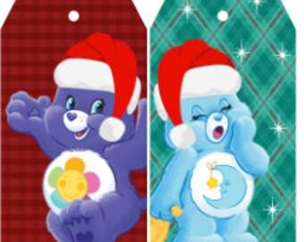 CareBears Gift Tags , Christmas , Holidays , Winter , Snow , Caring , Sharing , Love , Bears