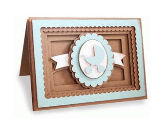 Baby Stroller Pop-Dot Card , 3D , Boy , Girl , NewBorn , Carriage , Buggy ,  Pink , Blue , New Mom , Expecting