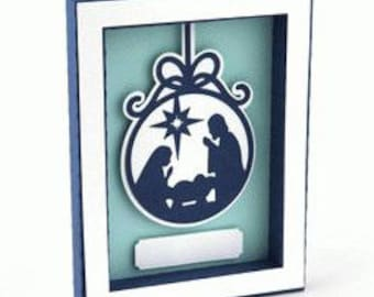 3D Nativity Framed Card , Papercut , Christmas , Holiday , Decor , Gift , Family , Friends