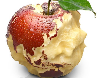 Earth - Asia and Oceania - apple-planet earth carved with continents - SKU 0088