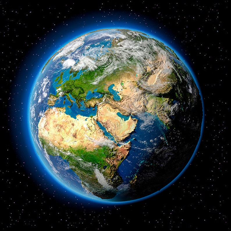 Earth Europe Africa and Middle East planet earth image 0