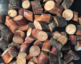 Wooden branches 0.25 kg (ca. 25stück) 1-3 cm in diameter and about 2.4 cm thickness