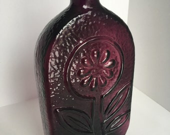 Mid Century Modern decorative glass bottle from Italy